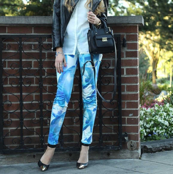 J Brand Blue Orchid print jeans